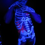 fluo body painting by Elena